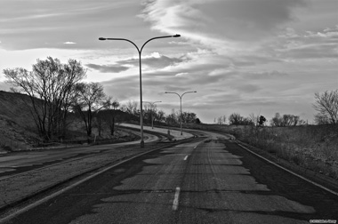 Winding Road BW